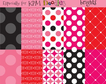 Megan's Valentine Brights Digital  Paper Pack