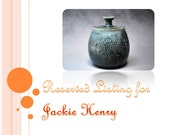 Reserved Listing for Jackie Henry - The Dots Leaked Out Lidded Jar