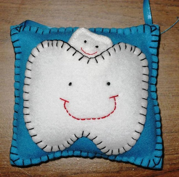Robins Egg Blue Tooth Fairy Pillow