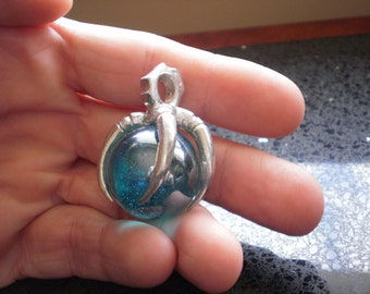 Talons' Grasp Blue or Red Royal Orb Pendant