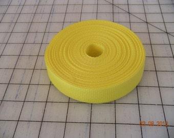 "1"" Polypropylene Webbing Yellow"