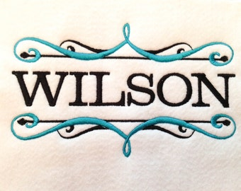 INSTANT DOWNLOAD Decorative Two Color Scroll EMBROIDERY Font Frame