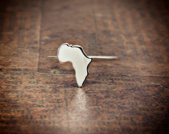 Africa  ring 925 Sterling silver ring