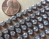 Rhinestone Chain Aged Patina 3 feet of 5mm chain
