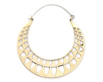 Triangle Hoop Earrings - Triangle Earrings - Triangle Jewelry - Geometric Jewelry