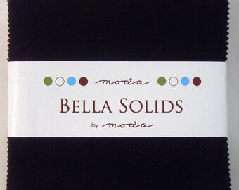 Bella Solids Charm Pack -Black