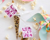 Popcorn favors - 25 custom popcorn favors - thanks for popping by, he popped the question wedding favors, baby shower favors