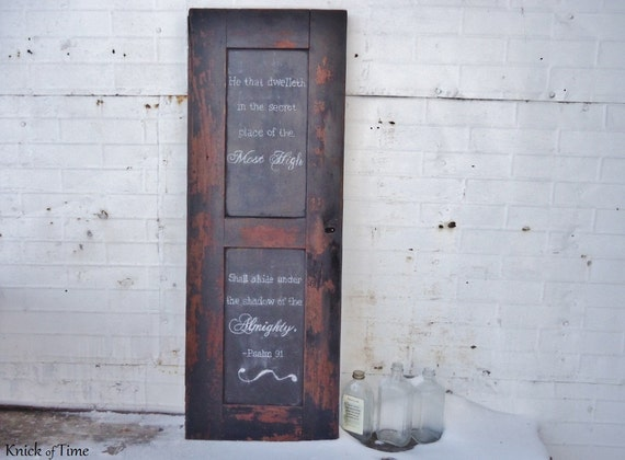 Reclaimed Wooden Chalkboard created from Antique Secretary Desk Salvage