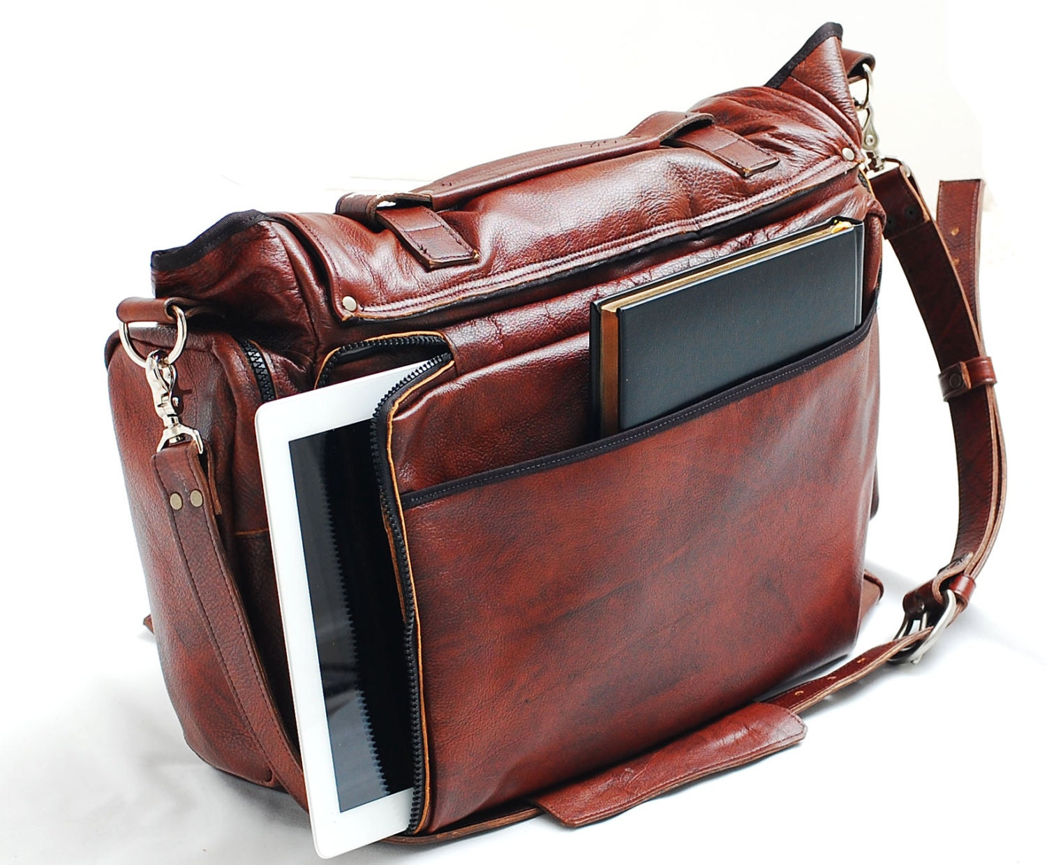 Custom Leather Messenger Bag 22 Inch Leather Bag Cross Body