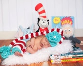 Baby Set - Dr. Seuss Stocking Hat and Leggings (fits 0-3, 3-6 months)