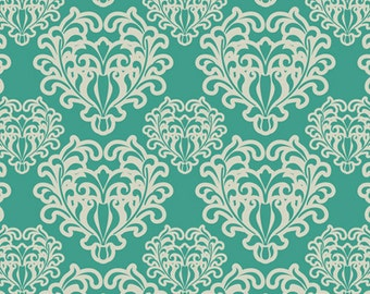Passionate Spirit Teal  (SML-104) - Summerlove by Patricia Bravo - Art Gallery Fabric - By the Yard