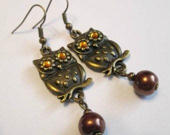 "Earrings - Handmade, Charming Style ""Owl Know Your Every Move"""