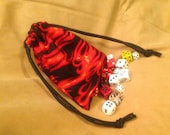 Red Flames Dice Bag