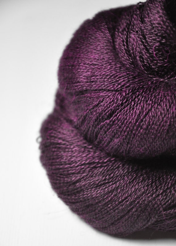 Bewitched OOAK - Baby Alpaca / Silk yarn lace weight