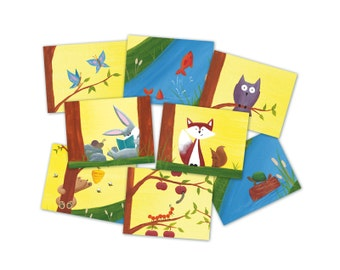 SET of 8 - Woodland Card Set