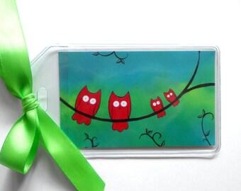 Owl Luggage Tag - Owl Bookbag Tag - Cute Owl Birthday Gift