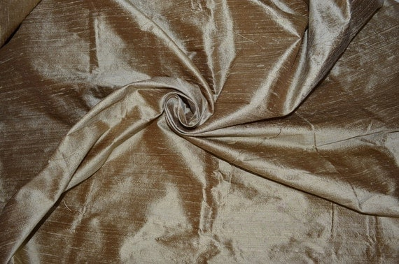 Silk dupioni in  Very Pale Vegas Gold,Extra wide  54 inches , Half yard, DEX  87