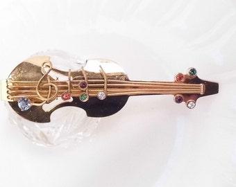 CORO Cello Brooch Book Piece Signed