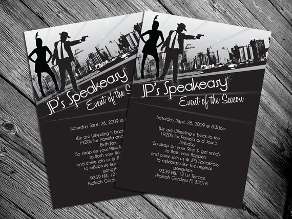 1920's or 1940's themed Party Invitation Print it