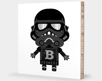 Star Wars wall art print | Star Wars nursery art - Shadow Trooper, Shadow Stormtrooper, Star Wars decor - Star Wars ABC bamboo wall art