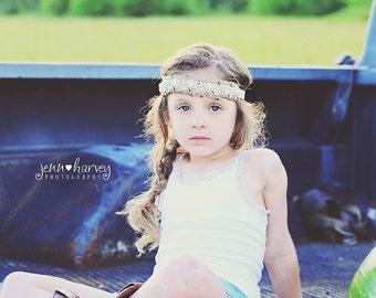Baby headband, newborn headband, adult headband, child headband and photography prop Penelope sprinkle headband