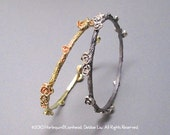 Rose Stackable Bangle - Oxidized Sterling Silver (ready to ship) (promo inside)