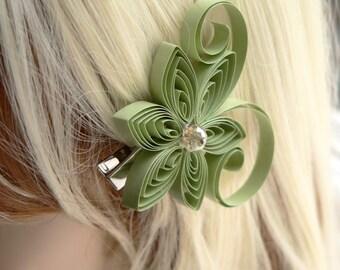 Meadow Wedding, Sage Green Wedding Hair Clip, Sage Wedding Hair Accessory, Moss Wedding