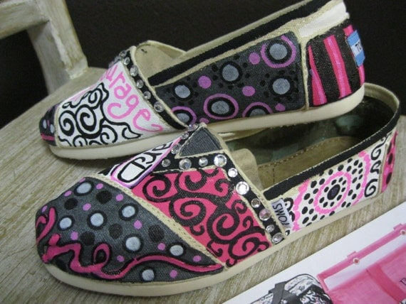 Thirty one TOMS painted just for you in your colors, quotes, business