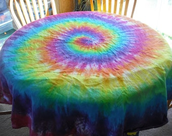 Tie dye Round Tablecloth
