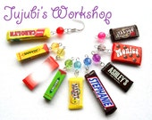 Personalized Polymer Clay Candy / Chocolate Bar Earrings - Inspired by candy / chocolate bars - Made to Order