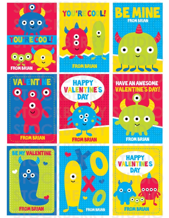 boys valentines day cards printable - monster valentine - boy, Ideas