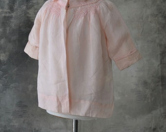 VIntage Handmade Child's Pink Silk Shirt