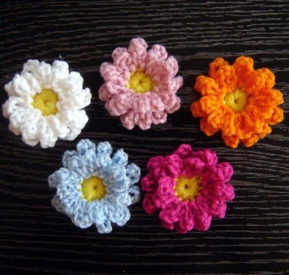 Crochet Flower Pattern Dahlia : PDF Instant Download Crochet Pattern No 120 Dahlia Flower