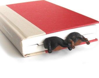 Double Decker Dachshunds in the Book, Dachsund Bookmark, Birthday Gift, Mothers Day Gift, Gifts for Mom- Unique Art Bookmark