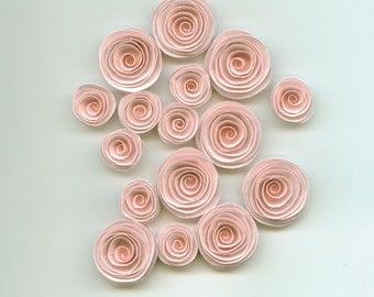 Muslin Nude Pink Handmade Spiral Paper Flower