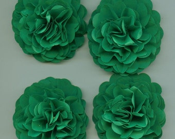 Lucky Irish Green Carnation Paper Flower Embellishment for Events or Crafts