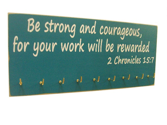 inspirational bible verse running medals by runningonthewall
