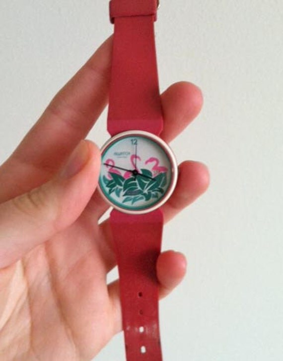 Pink Flamingo Knock Off Swatch Watch