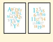 Nursery Digital Print - Alphabet and  Numbers