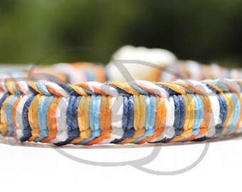 Thunder Oklahoma City OKC Hemp Wrapped 550 Paracord Bracelet with knot and loop
