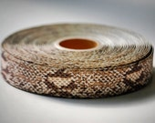 """WHOESALE PRICE 10 YDs x 1"""" Python Snake Pattern Printed Grosgrain"""