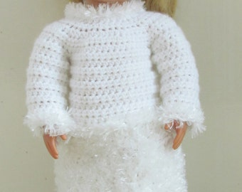 """18 inch Doll Outfit Crochet Pattern """"Snow Day"""" PDF 164"""