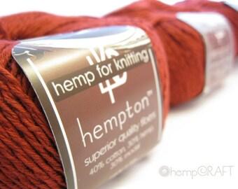 Hemp Cotton Yarn, Garnet Red, 130yd Hemp/Cotton/Modal Blend