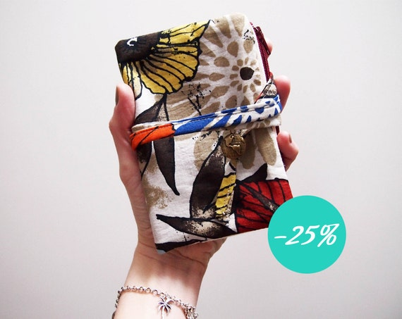 SALE LAST Exotic blue flowers and leafs passport cover/holder/case