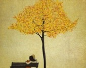 Under the cherry tree - Autumn - Art print (3 different sizes)