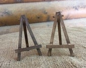 Rustic Chic EASEL SET of 2 - Natural or Rustic Stain