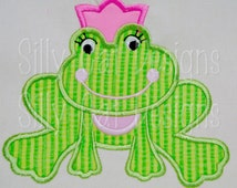 Frog Princess Applique Design