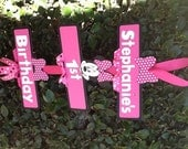 Minnie Mouse Party Sign - Black/Pink/Pink Polka Dots