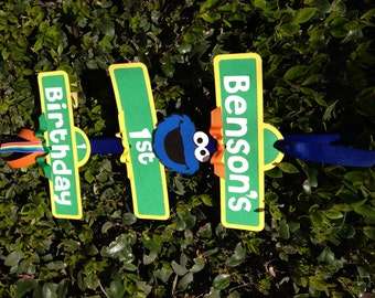 Cookie Monster/Sesame Street Birthday Party Sign