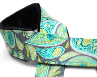 Camera Strap - dslr Camera Strap - Camera Accessories - Gifts for Photographer - Birthday Gift - Charcoal Paisley - READY TO SHIP